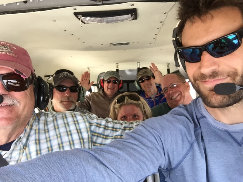 Fun in the sky during an Air Taxi Flight with Trygg Air in Alaska